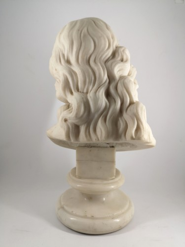 18th century - Bust of Christ in white marble, Italian School 18th century