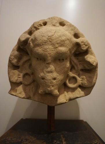 Renaissance Grotesque head, Castile, XVIth century - Sculpture Style Renaissance