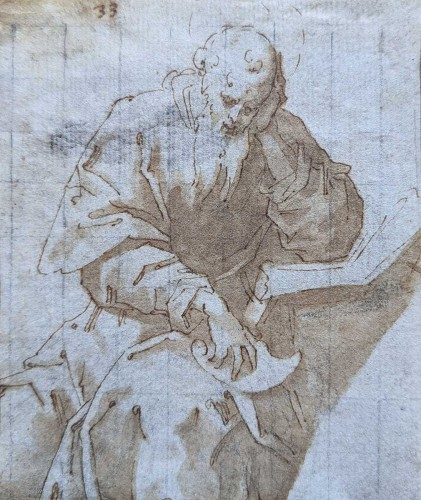 Saint Jerome, late Renaissance drawing, North Italian School, 1550-1600