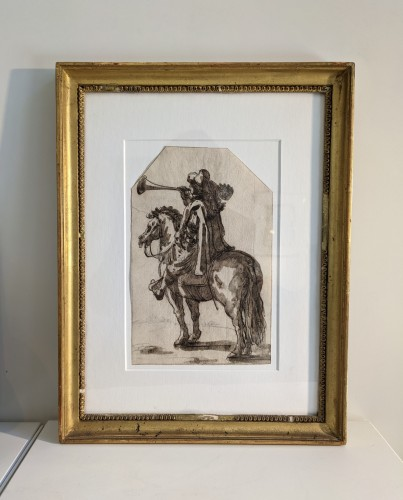 Study of a horseman, Italian School, XVIIth century - Paintings & Drawings Style