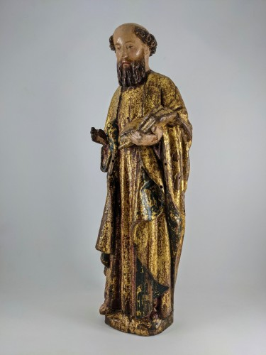Saint Peter, Possibly Malines circa 1500 - Sculpture Style Middle age