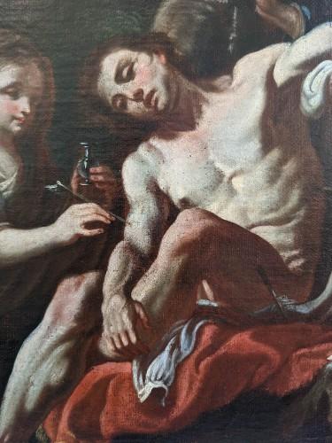 Fedele Fischetti (Naples, 1732 - 1792), St Sebastian tended by St Irene  - Paintings & Drawings Style