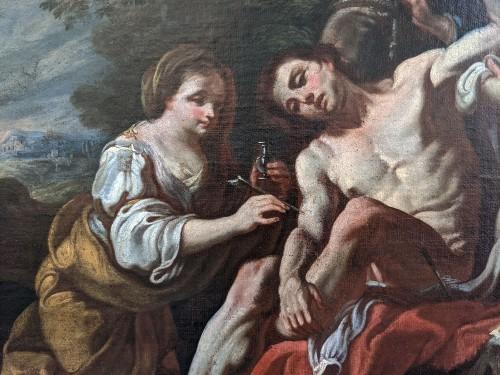 Paintings & Drawings  - Fedele Fischetti (Naples, 1732 - 1792), St Sebastian tended by St Irene