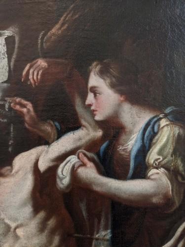 18th century - Fedele Fischetti (Naples, 1732 - 1792), St Sebastian tended by St Irene