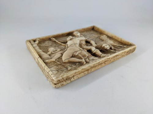 Venus and Adonis, ivory plaque after Titian, 17th century - Curiosities Style Renaissance