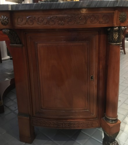 Furniture  - Empire chest of drawers in cherry wood with side door