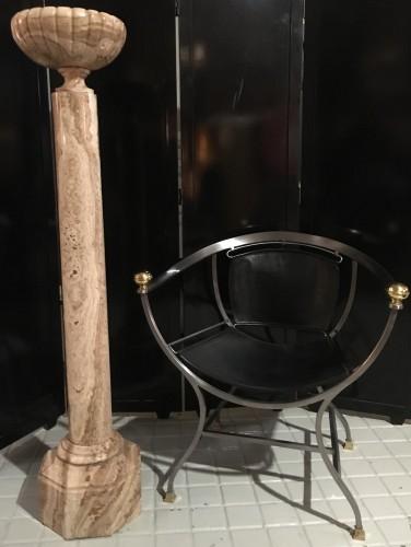 - Vase on marble column