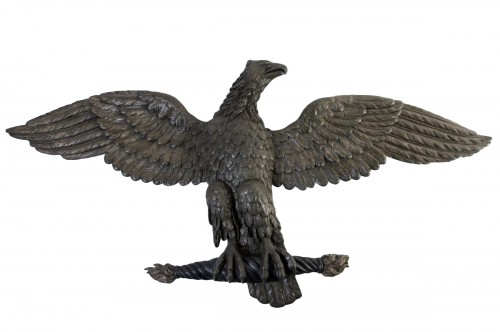 Carved and stuccoed wood eagle from the early 19th century