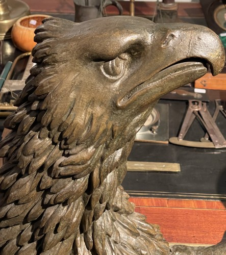 Empire - Carved and stuccoed wood eagle from the early 19th century