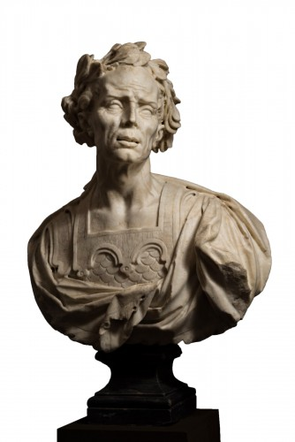 Caesar's bust in marble - Venetian Baroque