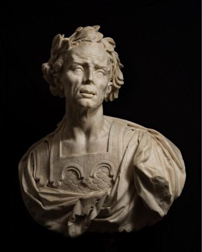 Sculpture  - Caesar's bust in marble - Venetian Baroque