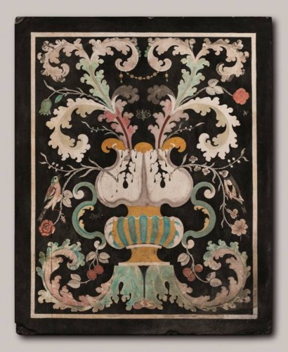 Decorative Objects  - Pair of Baroque Scagliola - Italy, Carpi - 17th century
