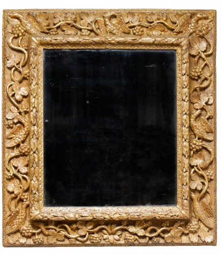 Burgundian gilded wooden mirror - 17th century