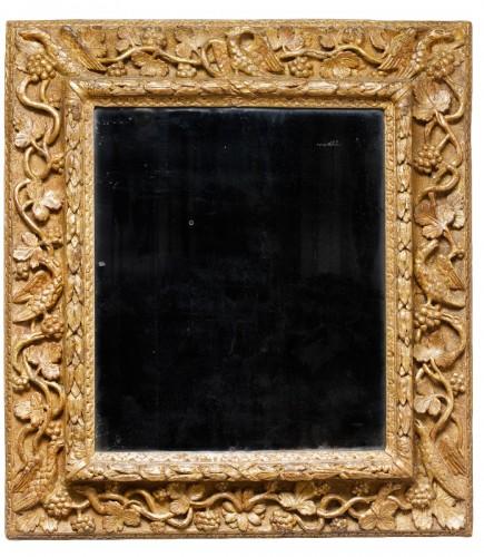 Burgundian gilded wooden mirror - 17th century