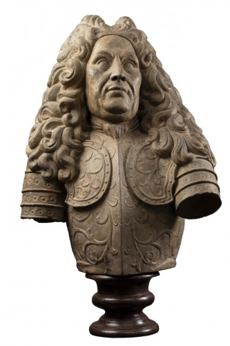 Terracotta bust of a noble man - Late 17th, early 18th century - Lorraine