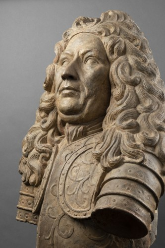 Terracotta bust of a noble man - Lorraine - Late 17th, early 18th century  - Sculpture Style Louis XIV