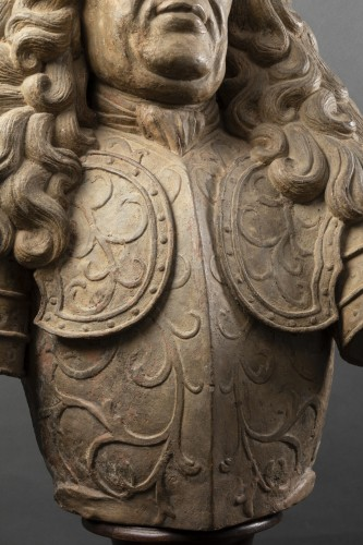 Sculpture  - Terracotta bust of a noble man - Lorraine - Late 17th, early 18th century