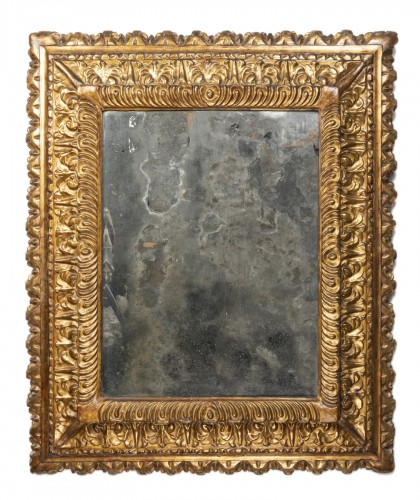 Carved and gilded wooden mirror - Florence - Second half of the 16th centur