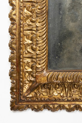Carved and gilded wooden mirror - Florence - Second half of the 16th - Mirrors, Trumeau Style