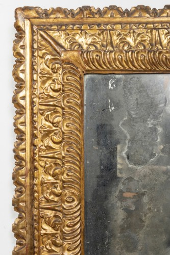 Mirrors, Trumeau  - Carved and gilded wooden mirror - Florence - Second half of the 16th