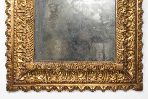 Carved and gilded wooden mirror - Florence - Second half of the 16th -