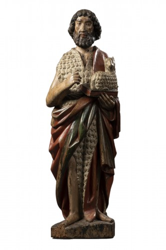 Saint John the Baptist in walnut wood - Burgundy - last third of the 15th