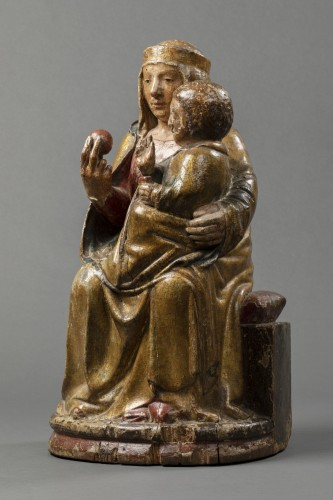 Virgin of majesty - Eastern Pyrenees - early 14th century -