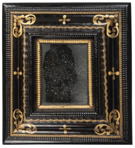 Small black and gold mirror - Northern Italy - 17th century