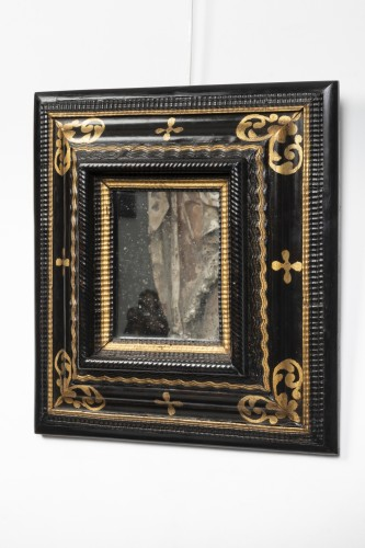 Small black and gold mirror - Northern Italy - 17th century - Mirrors, Trumeau Style