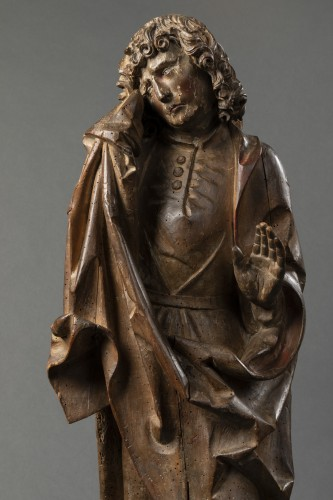 Sculpture  - Saint John of Calvary in lime tree - Bavaria - Early 16th century