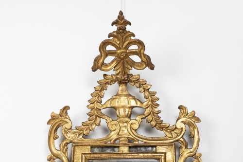 Gilded wooden mirror - Louis XVI - Mirrors, Trumeau Style Louis XVI
