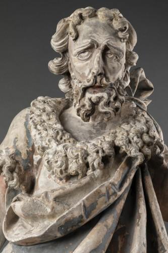 Saint John the Baptist in limestone - Circa 1500  -