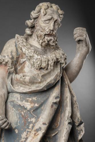 <= 16th century - Saint John the Baptist in limestone - Circa 1500