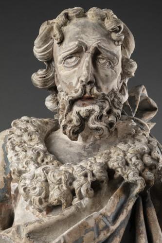 - Saint John the Baptist in limestone - Circa 1500