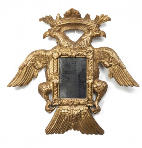 Mirror with two-headed eagle decoration - Austro-Germany - end of the 17th