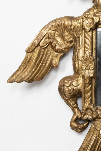 Mirror with two-headed eagle decoration - Austro-Germany - end of the 17th - Mirrors, Trumeau Style
