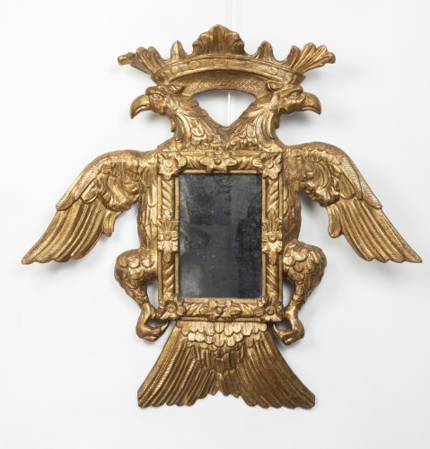 Mirror with two-headed eagle decoration - Austro-Germany - end of the 17th -
