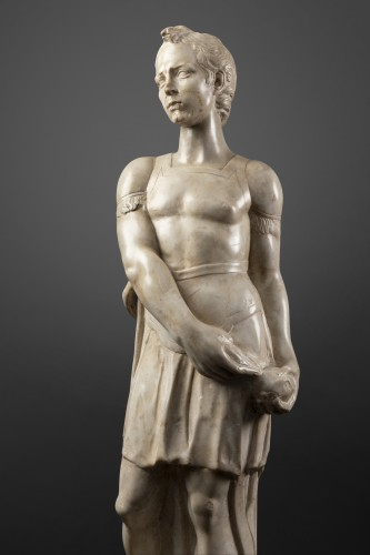 David and Goliath in Carrara marble - Tuscany - Second half of the 15th - Renaissance