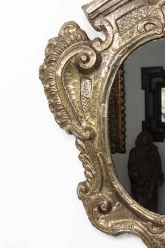 Pair of tinned copper mirrors - Italy - 18th century -