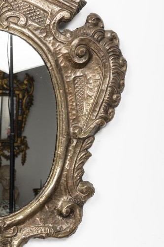 Antiquités - Pair of tinned copper mirrors - Italy - 18th century
