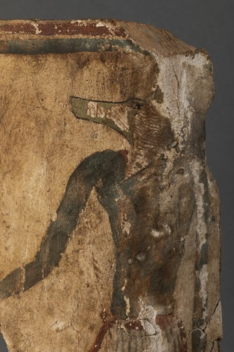 Fragment of a sarcophagus with an Anubis figure - Egypt - 18th dynasty -