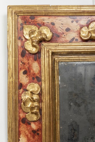 "Mirrors, Trumeau  - Mirror with ""feigned marble"" decoration - Southern Italy - 17th century."