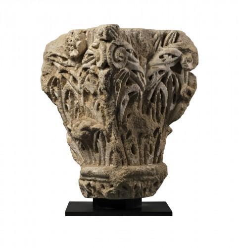 Roman corner capital - France - 11th century