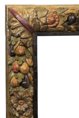 17th century - Frame with fruit decoration - Northern Italy - 17th century