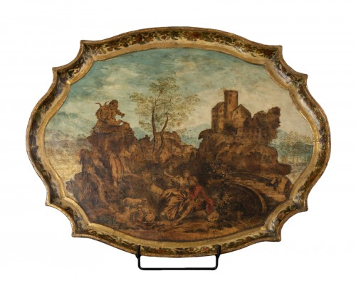 Wooden tray and arte povera - The Marche - early 18th century