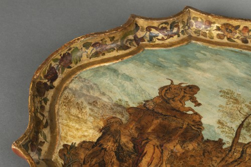 Wooden tray and arte povera - The Marche - early 18th century - Decorative Objects Style