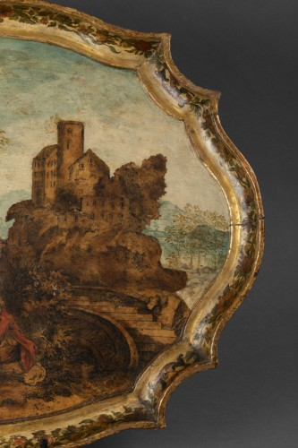 18th century - Wooden tray and arte povera - The Marche - early 18th century