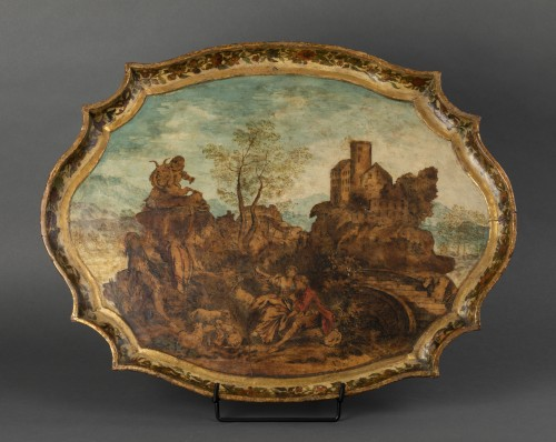 Wooden tray and arte povera - The Marche - early 18th century -