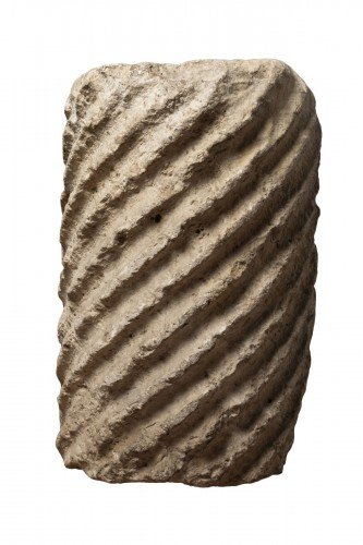 Fragment of a fluted marble torso column - Roman Empire - 5th century AD