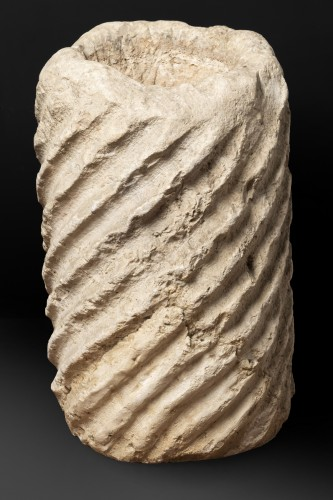 - Fragment of a fluted marble torso column - Roman Empire - 5th century AD